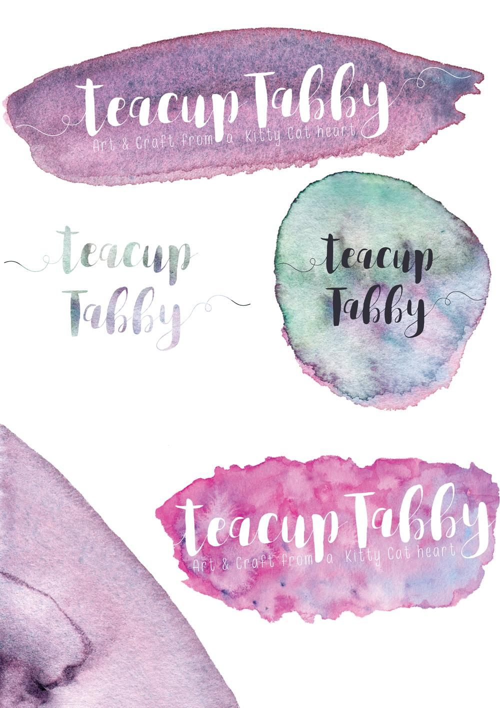 Watercolour Textures for use in branding - image 4 - student project