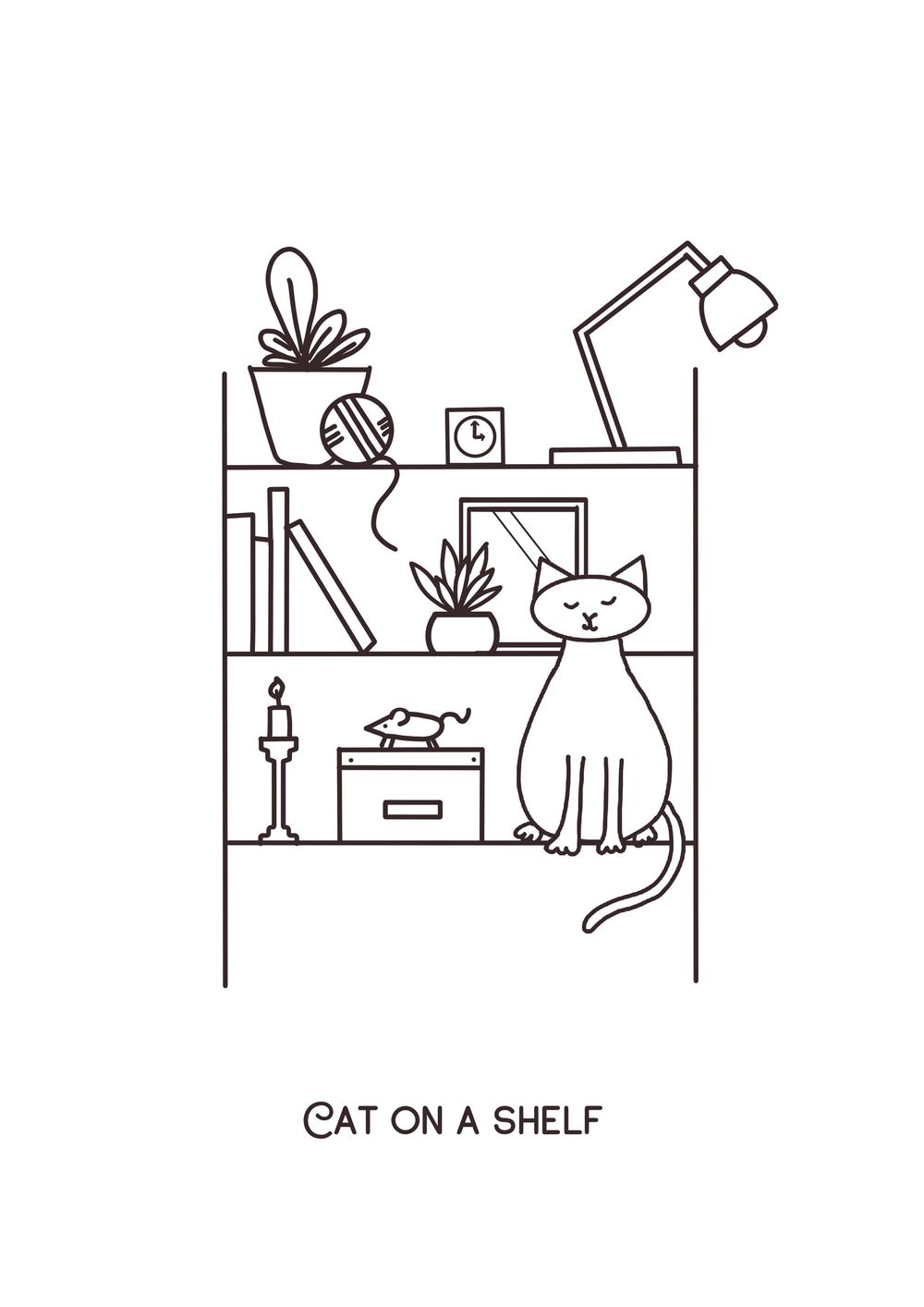 Cat on a shelf - image 1 - student project