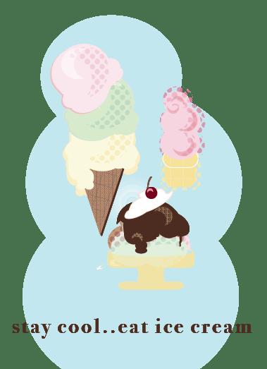 Geometric Ice Cream Menu - image 2 - student project