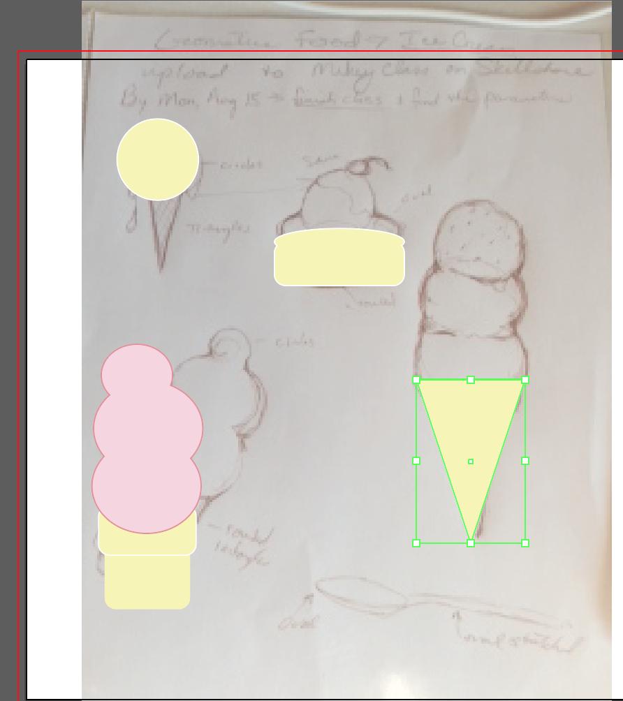 Geometric Ice Cream Menu - image 3 - student project