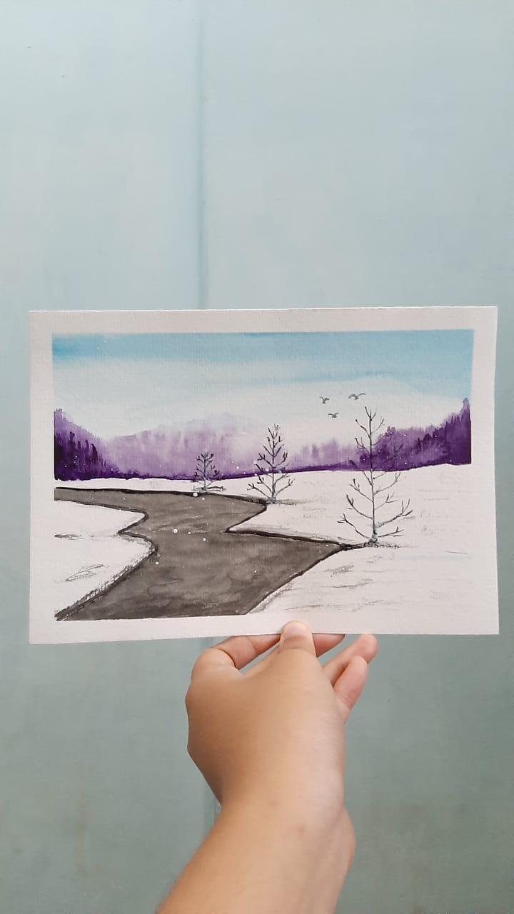 Winter landscape - image 2 - student project