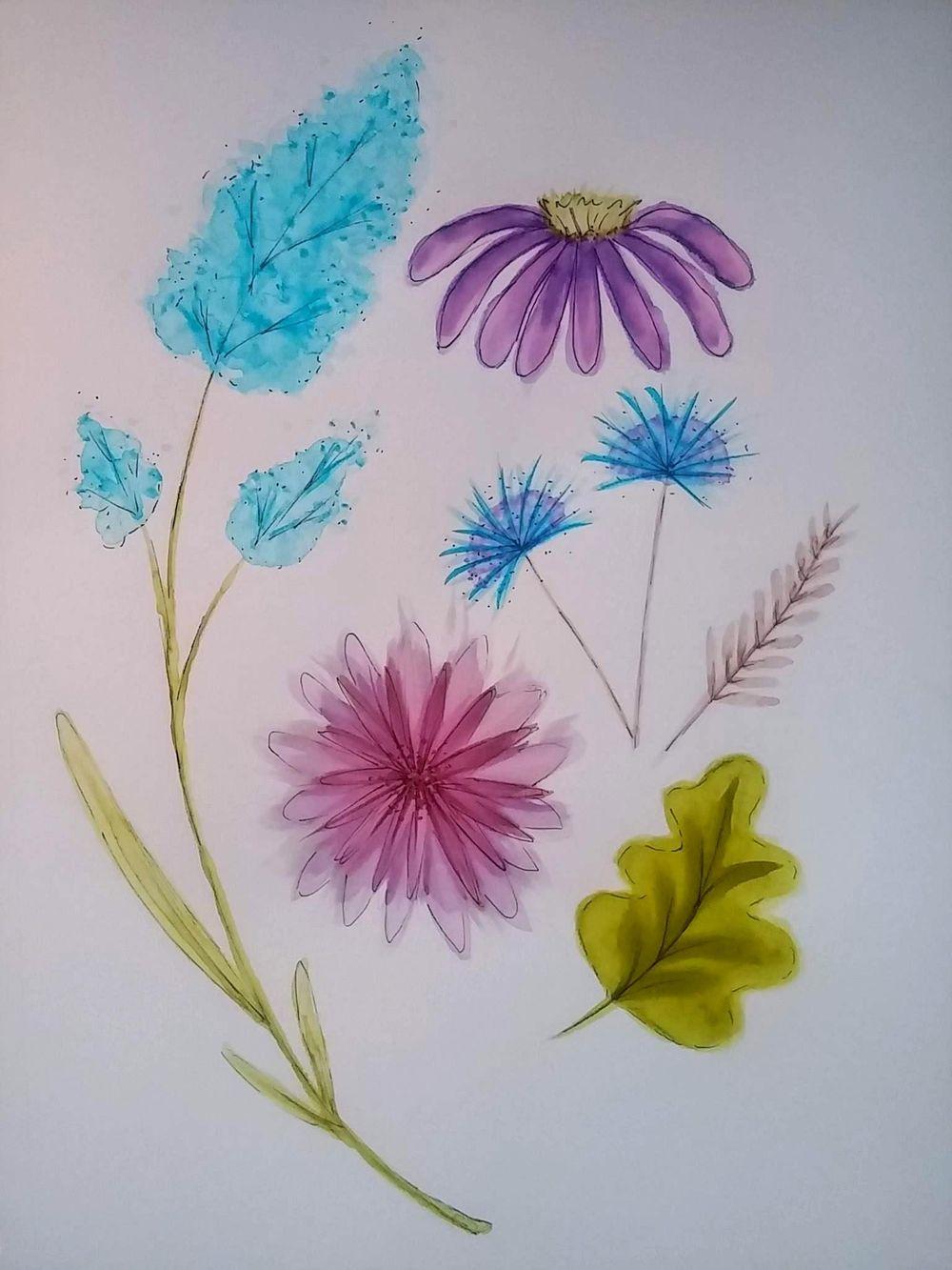 floral bouquet and flat arrangement - image 2 - student project