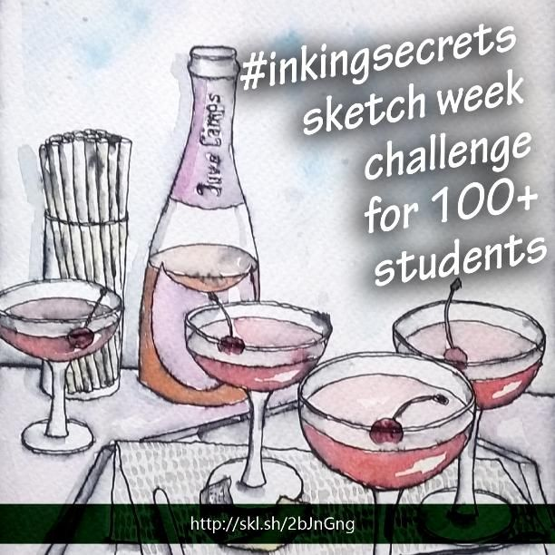My first food sketch  Rosé All Day Jello - image 1 - student project