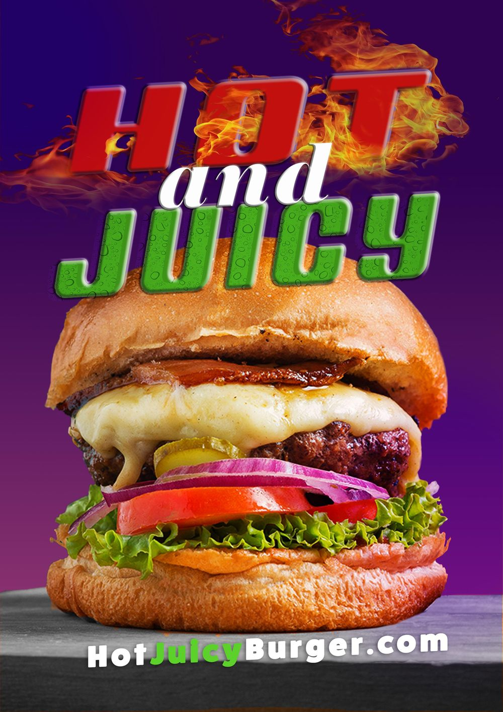 Hot and Juicy Burger - image 1 - student project