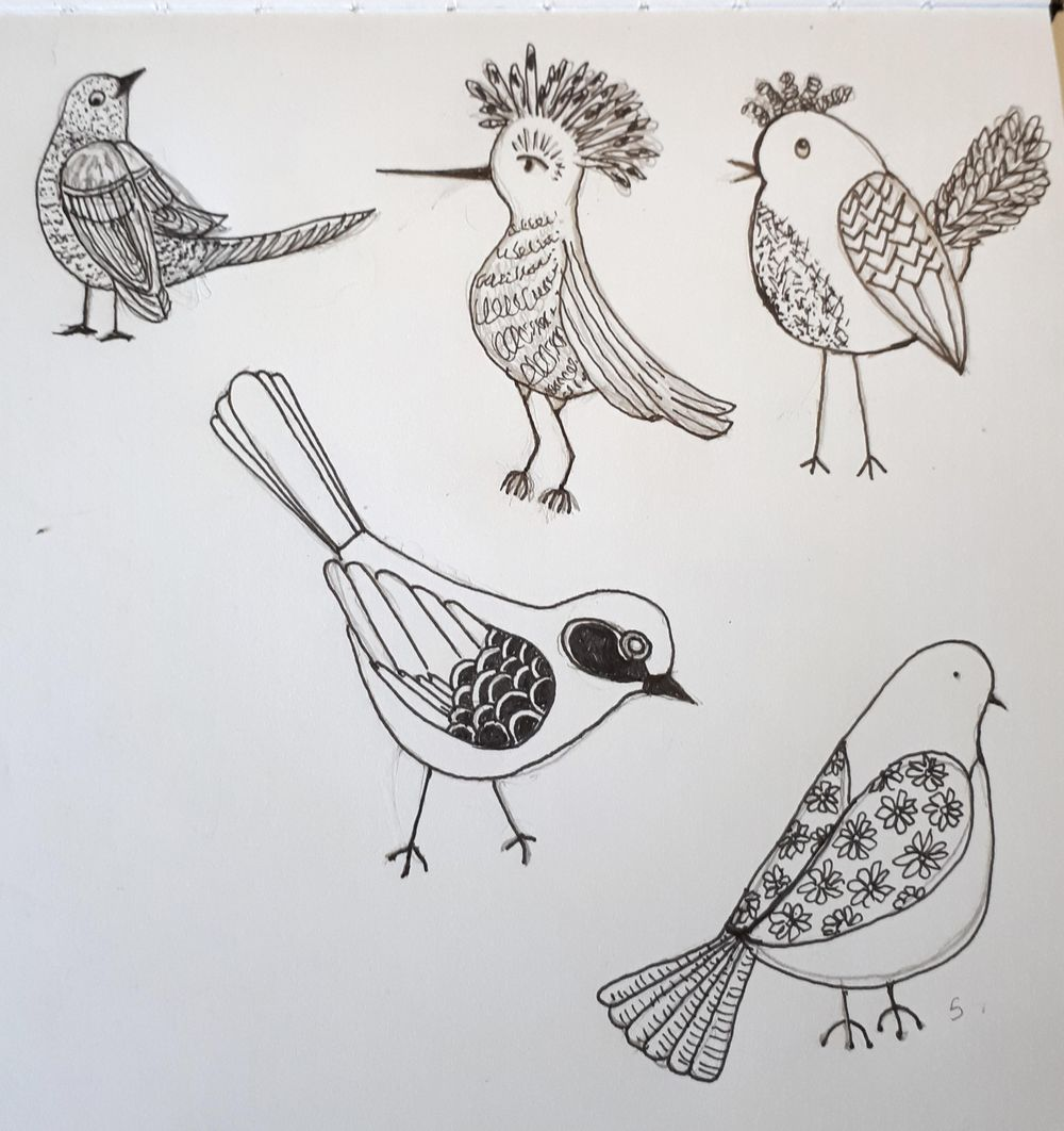 Birds with lots of Personalities..4 sets - image 1 - student project