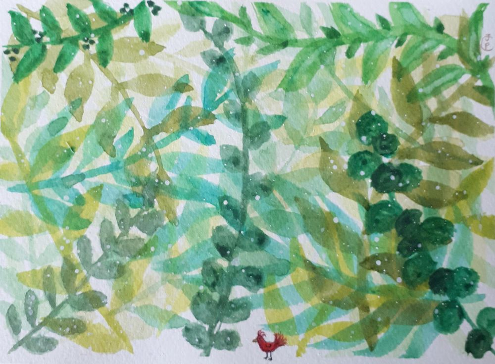 How to paint watercolor Leaves - image 1 - student project