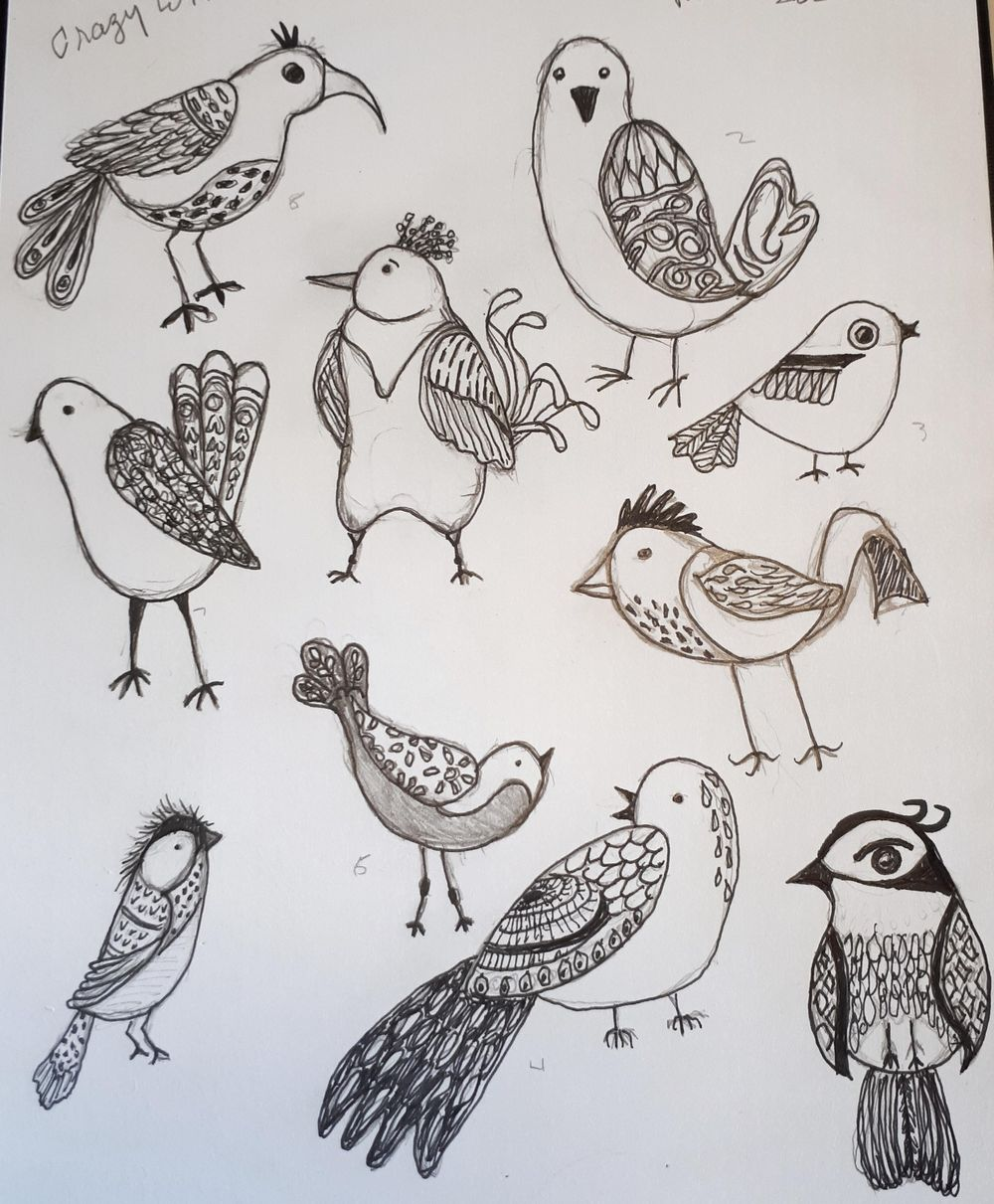 Birds with lots of Personalities..4 sets - image 2 - student project