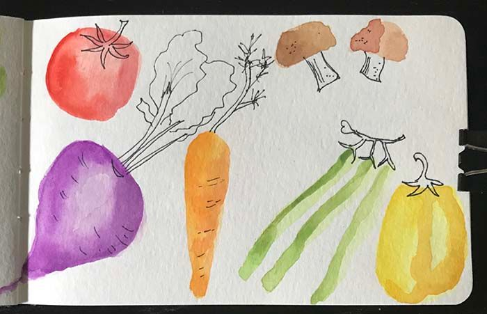Watercolor with Line Drawing - image 1 - student project