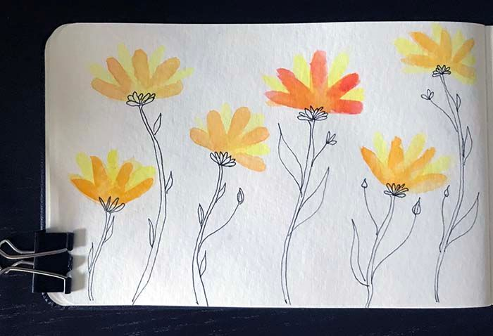 Watercolor with Line Drawing - image 2 - student project