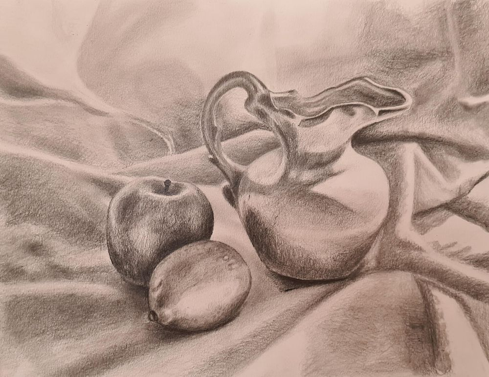 Vase and fruit still life! - image 1 - student project