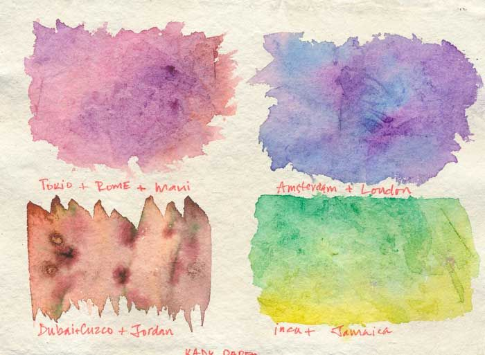 Watercolour textures. - image 3 - student project