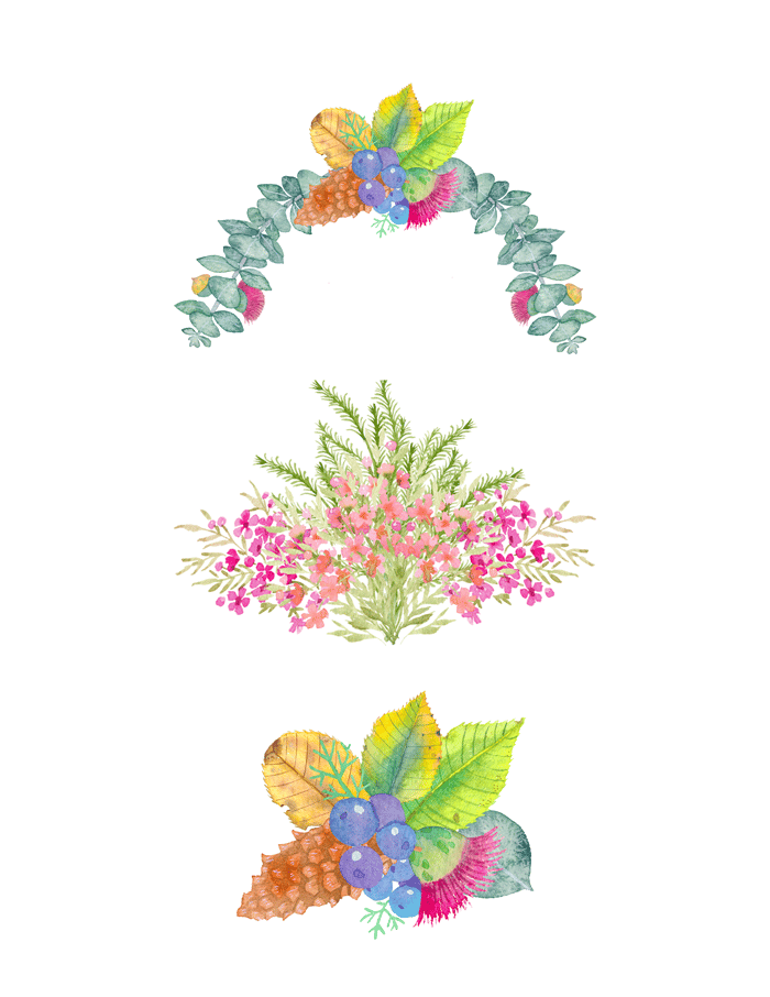 Flowers and leaves. - image 2 - student project