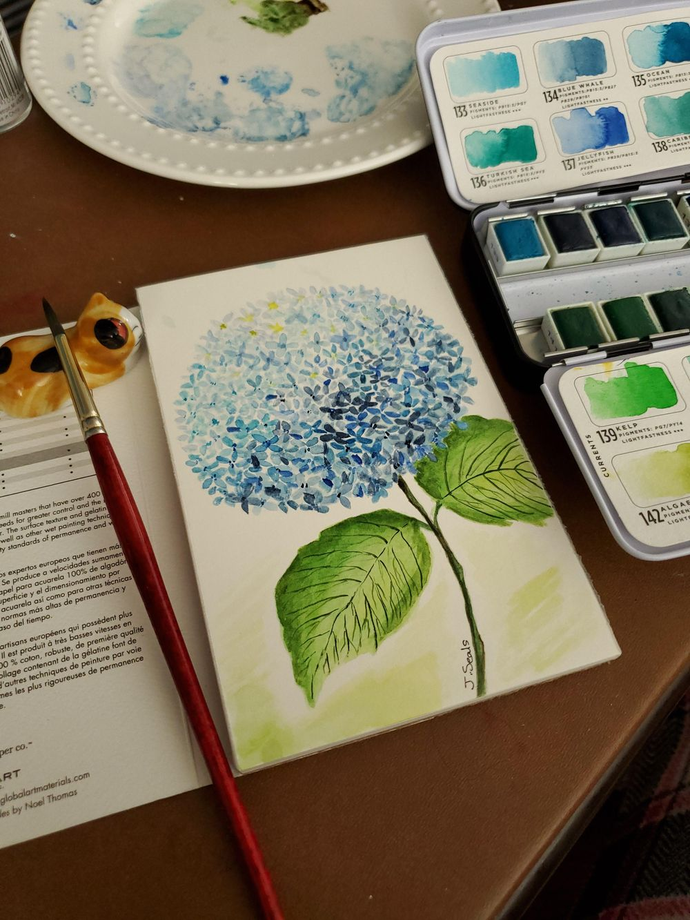 Hydrangea and helper - image 2 - student project