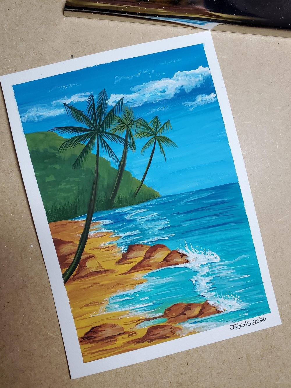 Beach in Gouache - image 1 - student project