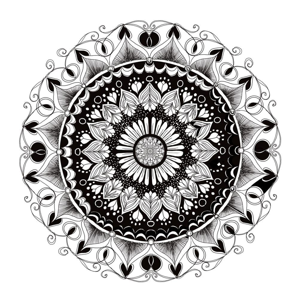 Monochromatic Mandala - image 1 - student project