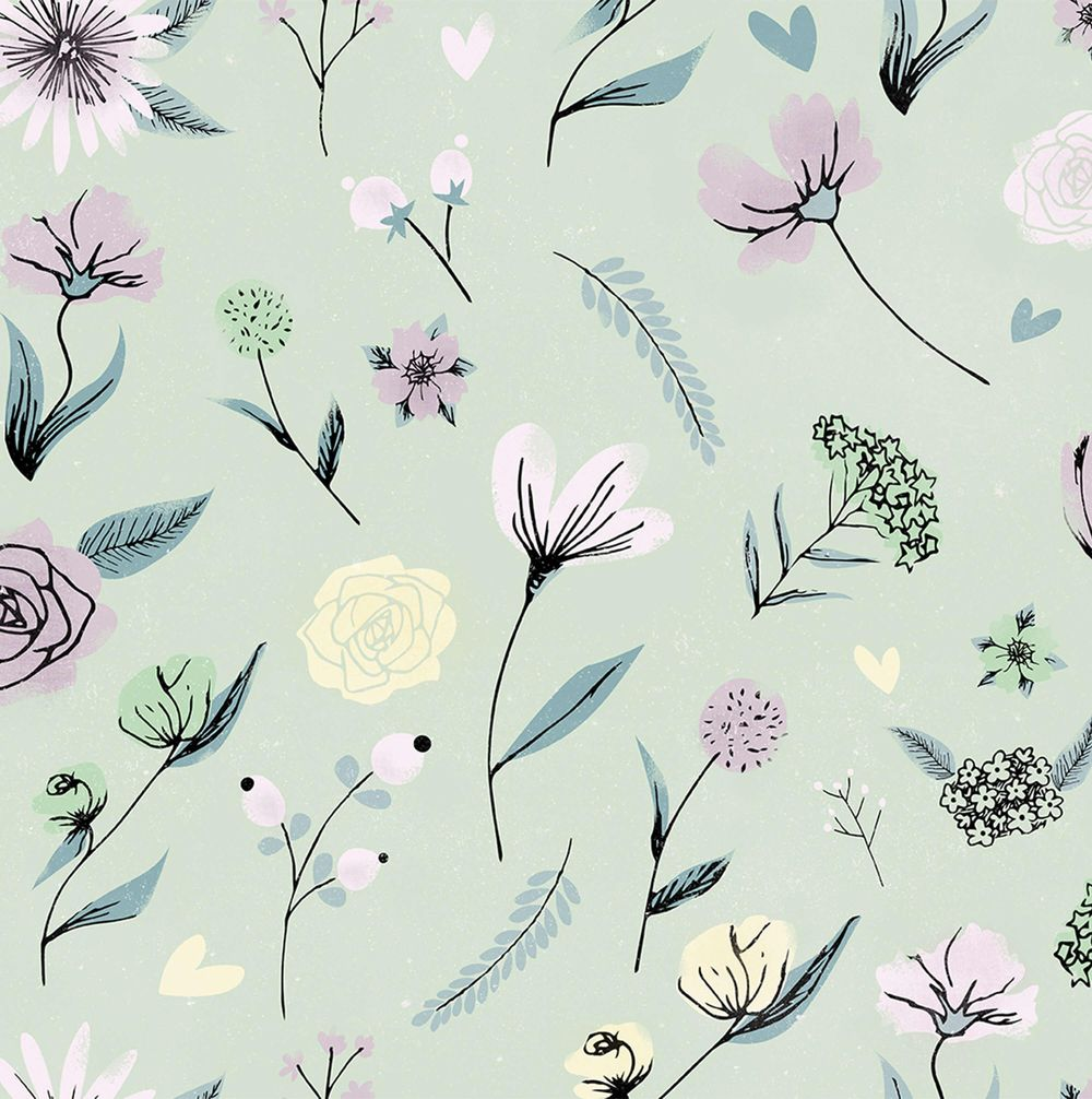 Spring floral pattern - image 3 - student project