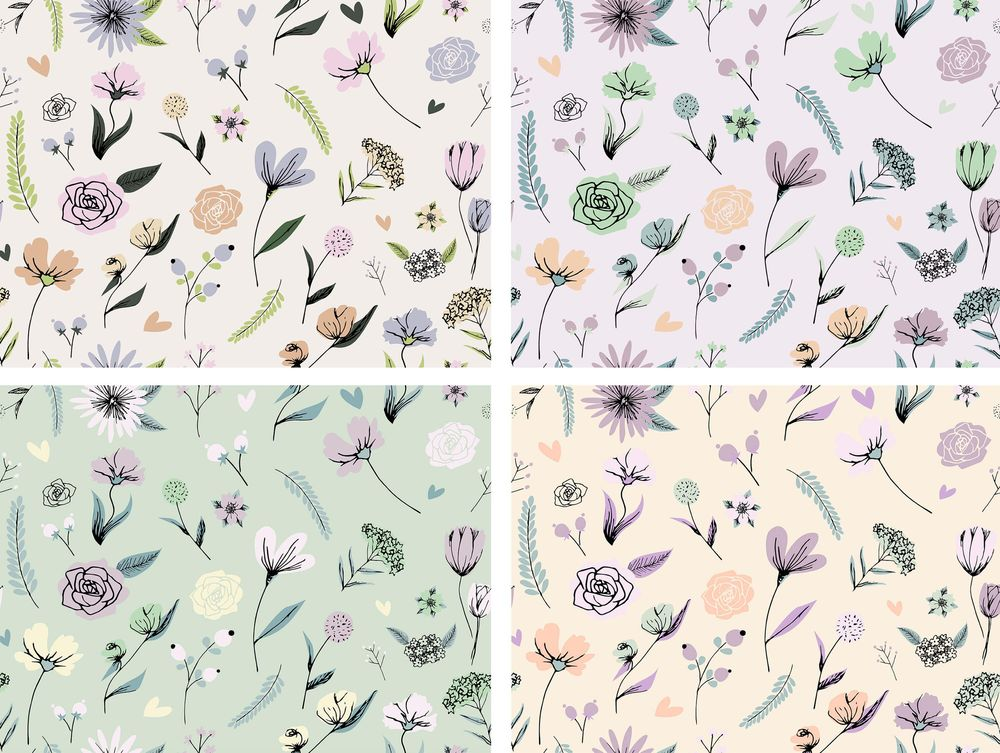 Spring floral pattern - image 2 - student project