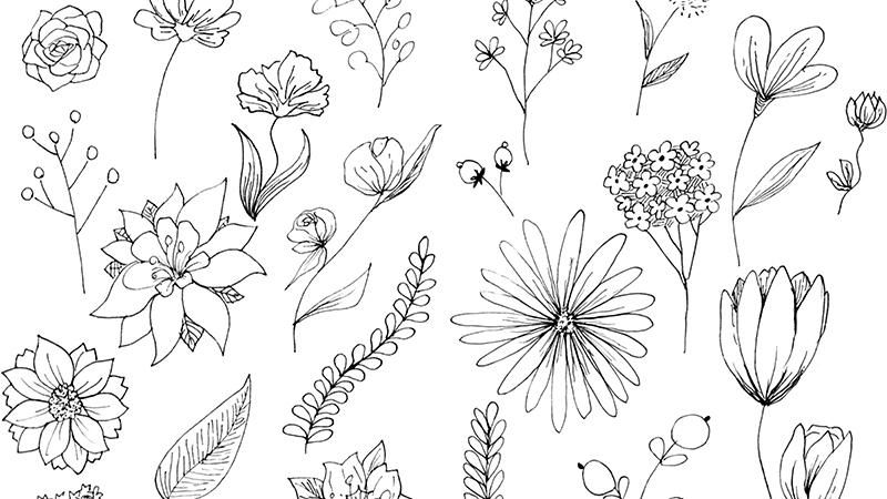 Spring floral pattern - image 1 - student project