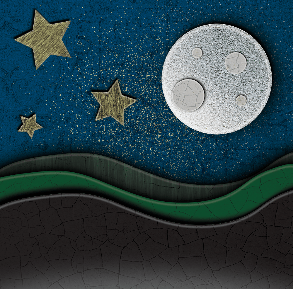 First Attempt - Moon Paper Cutout - image 1 - student project