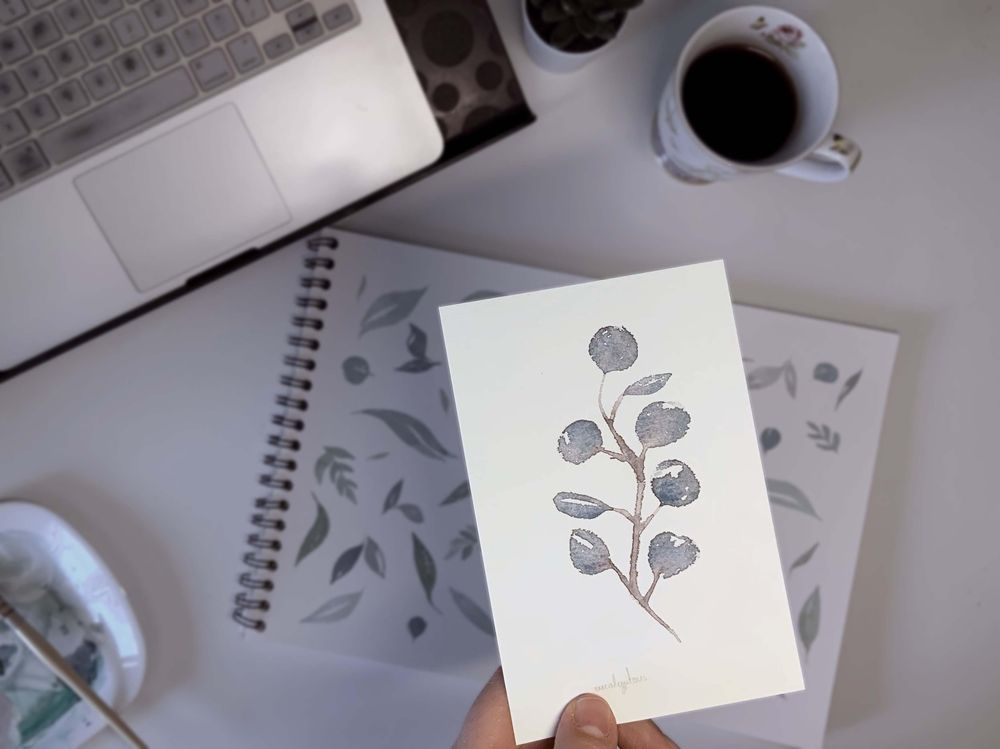 Painting floral greenery - image 2 - student project