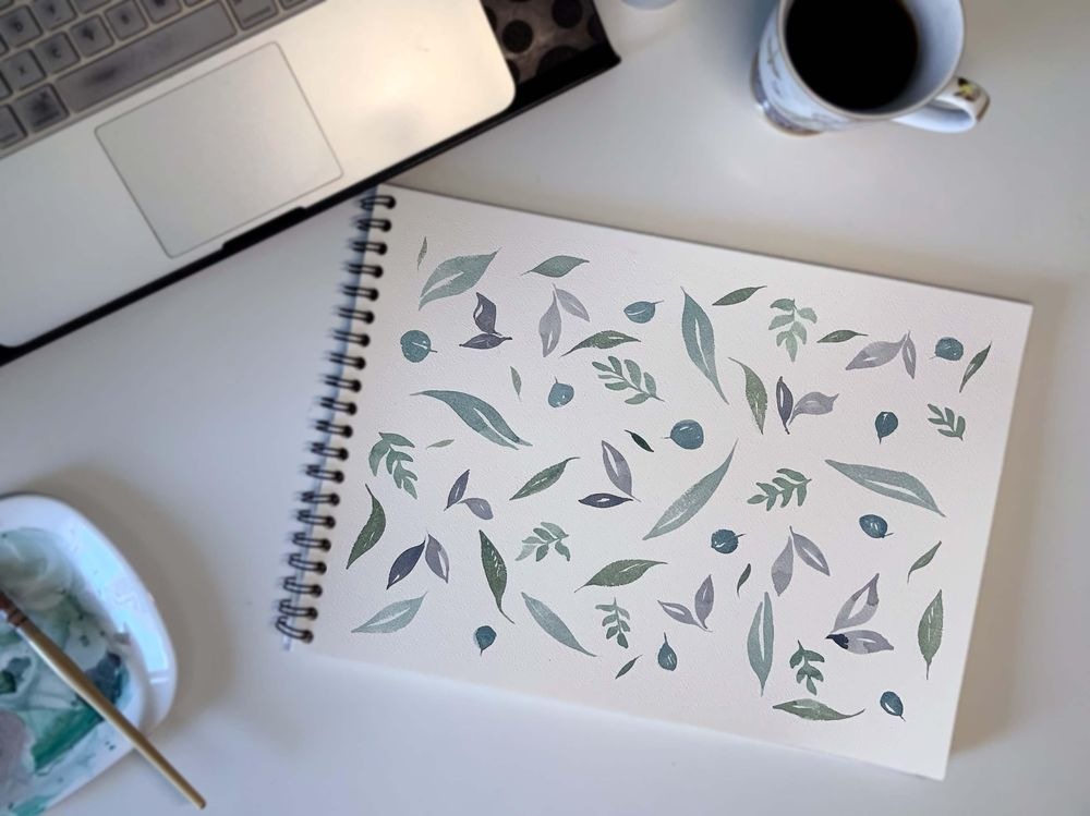 Painting floral greenery - image 1 - student project