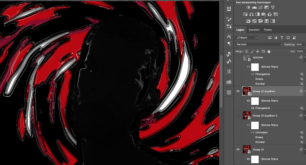 Organic Abstract Pattern for Album Cover Art - image 8 - student project