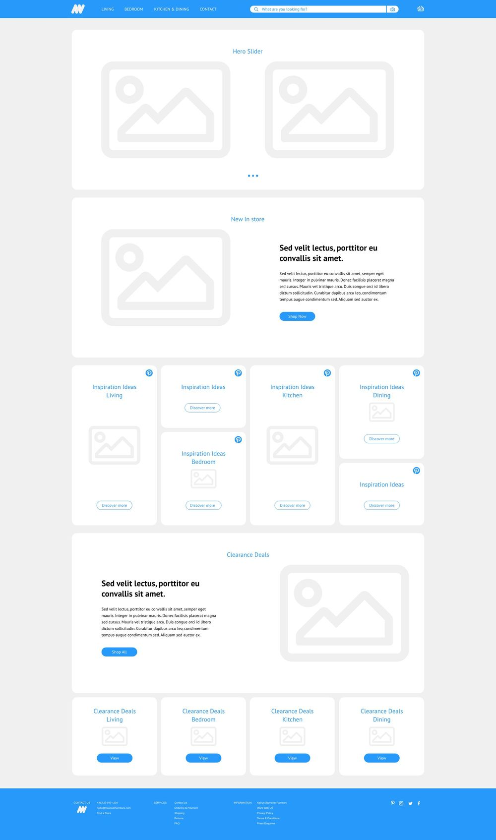 Class Project 01 – Wireframe Homepage & Contact Us Page - image 1 - student project