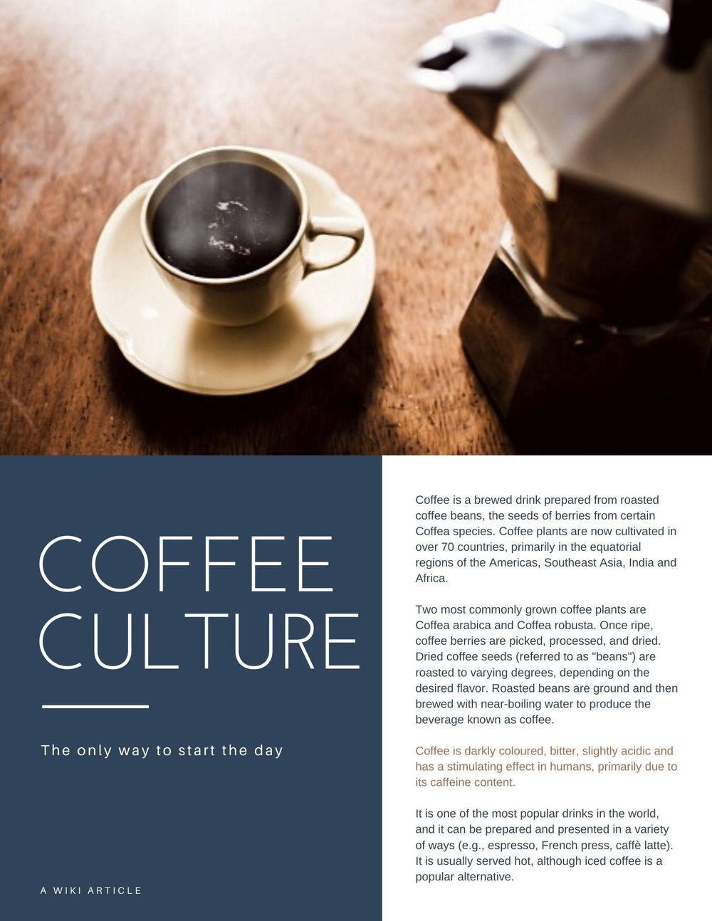 Coffee article (*) - image 1 - student project
