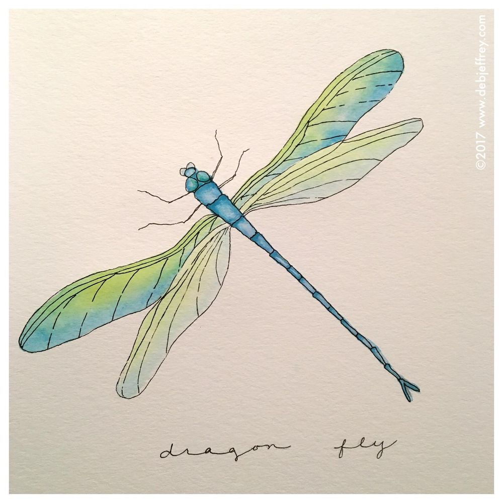 Having fun with watercolor and pen - image 3 - student project