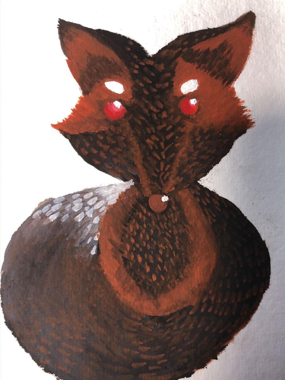 Melanistic Fox Ilustration - image 1 - student project
