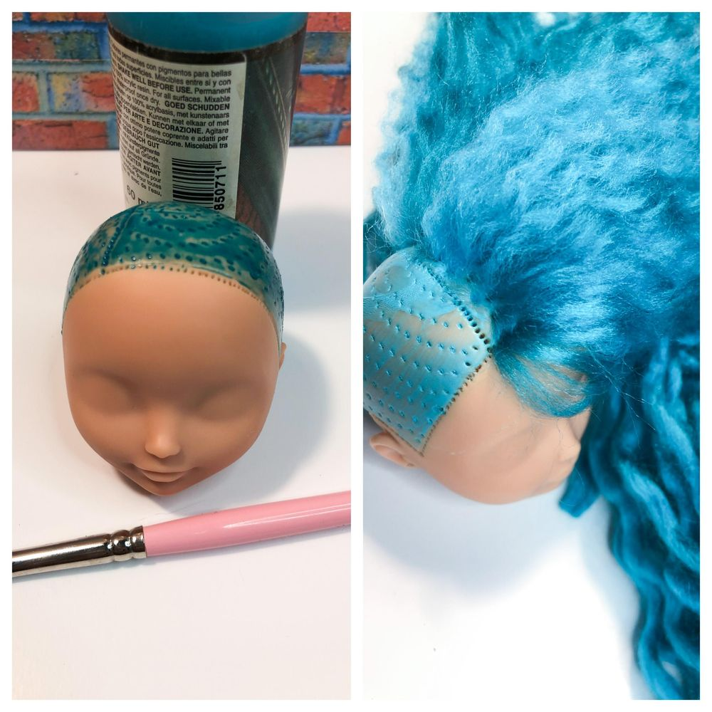 Rerooting a EAH Doll - image 2 - student project