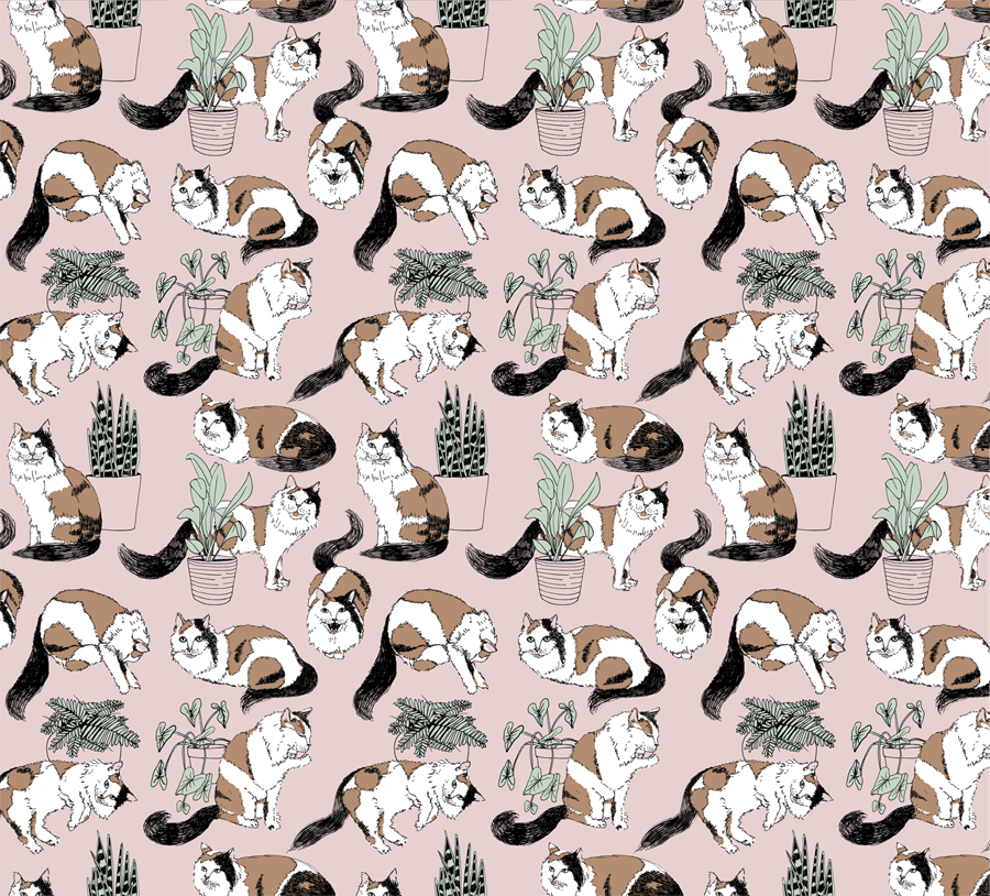 Cat Lady Pattern - image 3 - student project