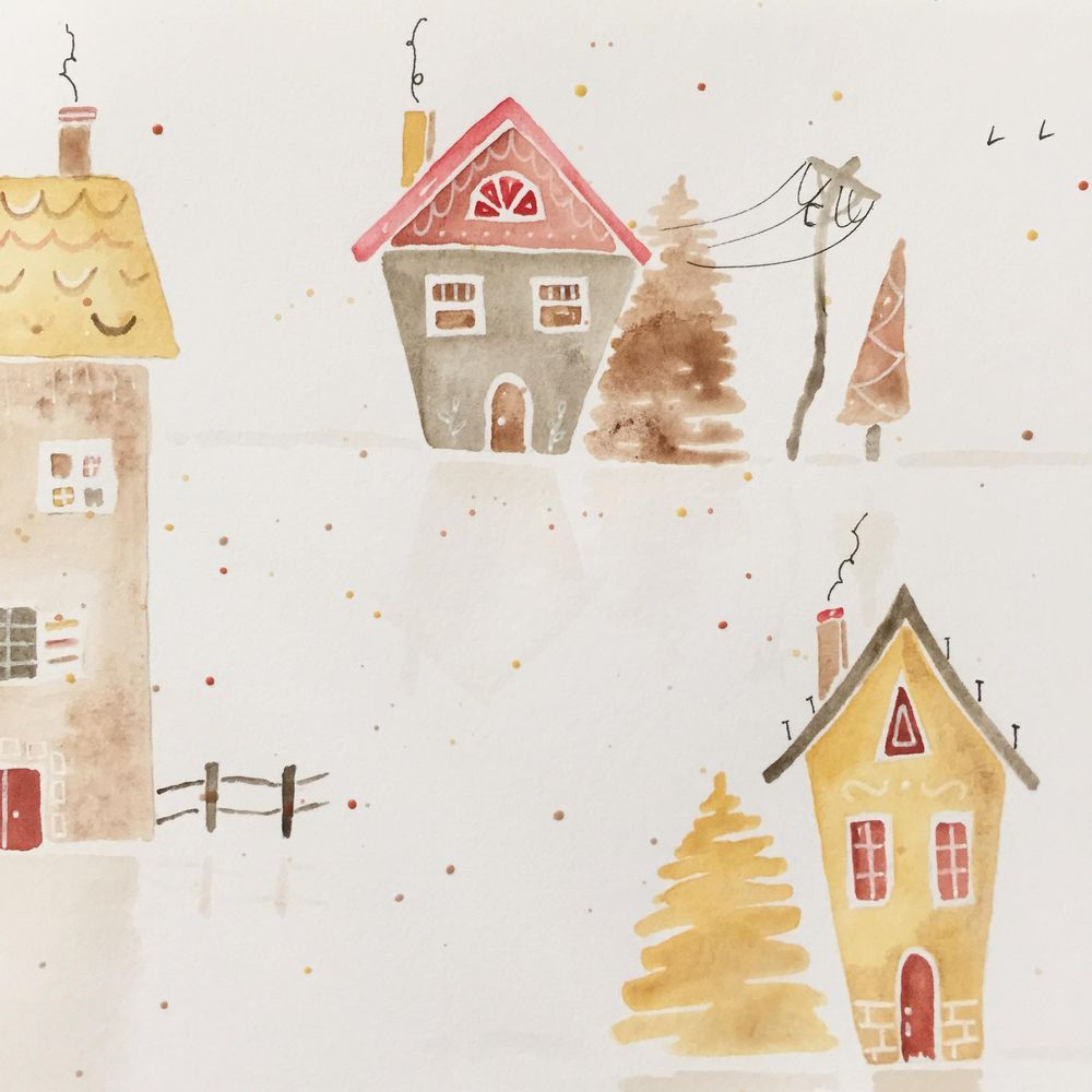 Watercolour Houses - image 1 - student project