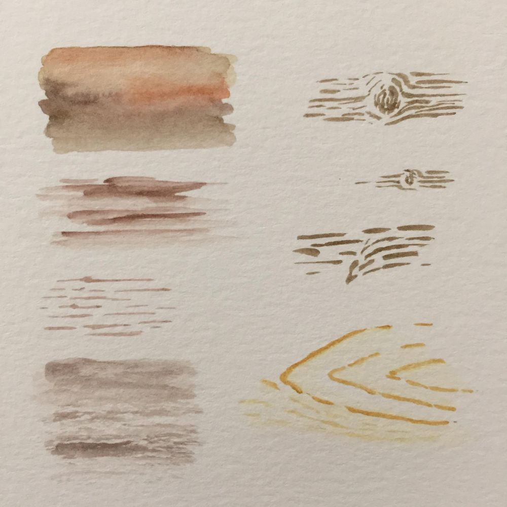 Watercolour Wood - image 2 - student project