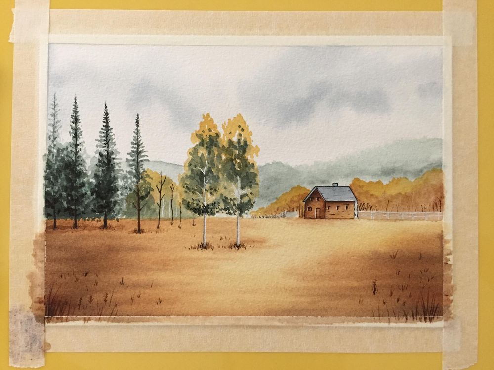 Painting a Landscape in Watercolour - image 2 - student project