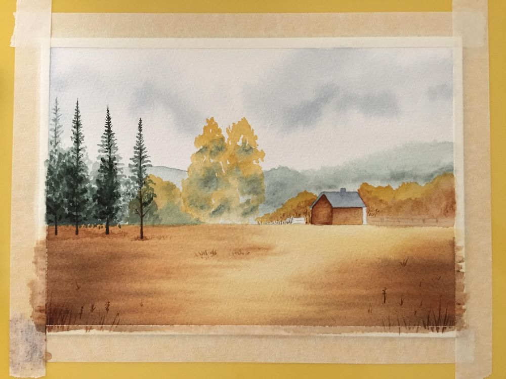 Painting a Landscape in Watercolour - image 1 - student project
