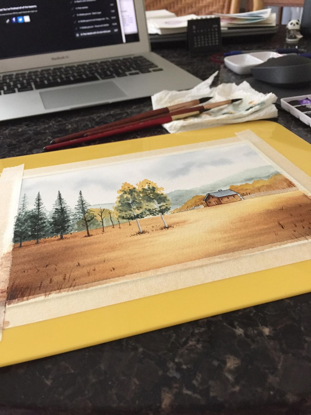 Painting a Landscape in Watercolour - image 3 - student project