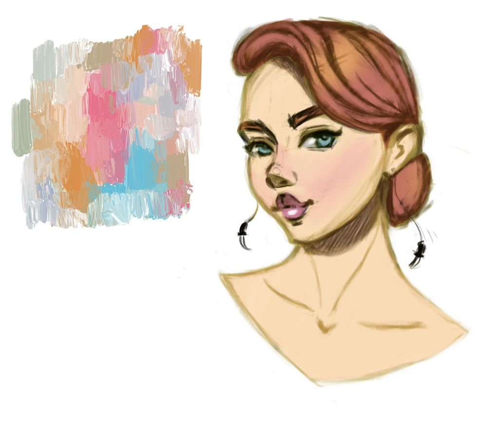 Female character in color - image 4 - student project