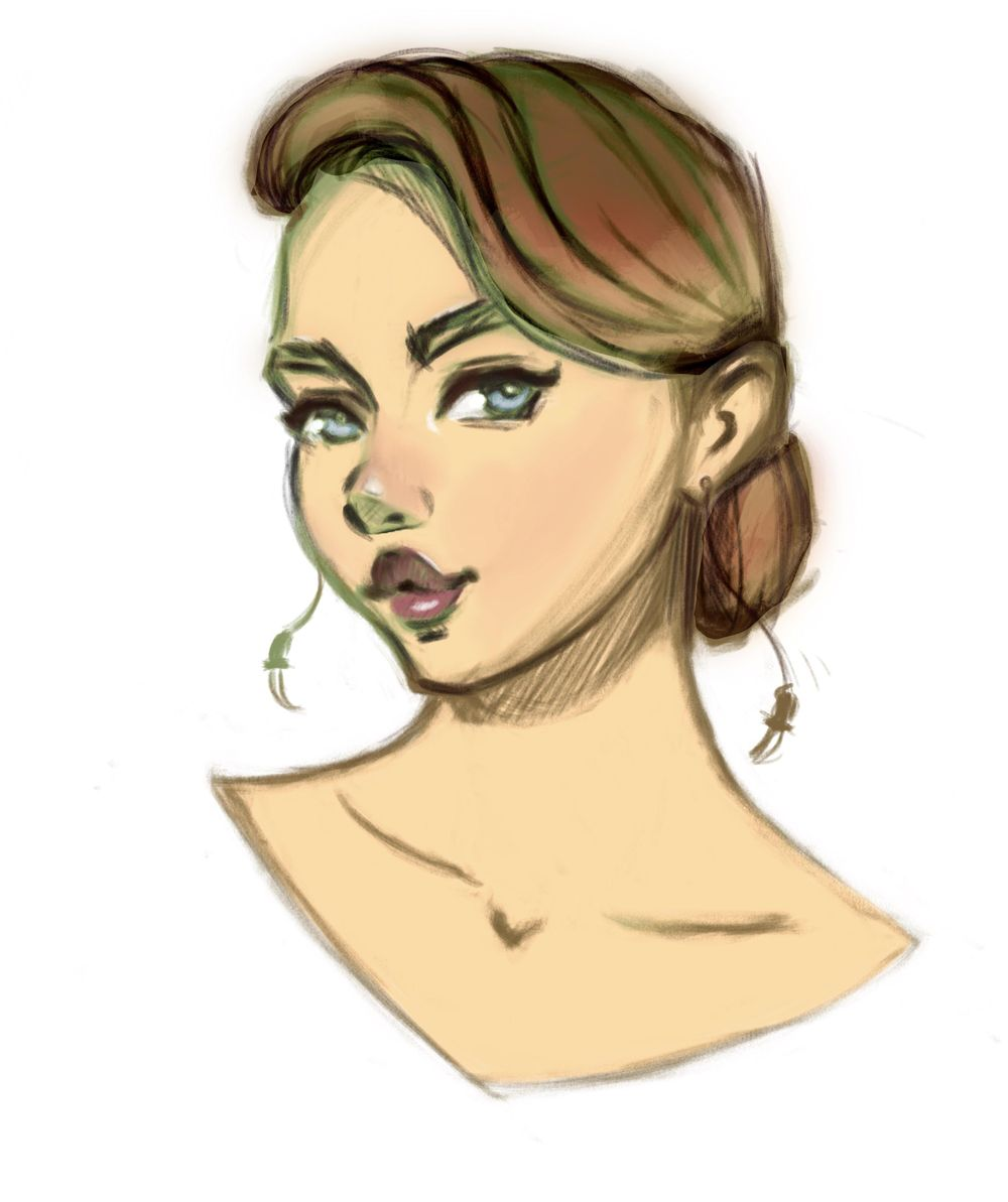 Female character in color - image 1 - student project