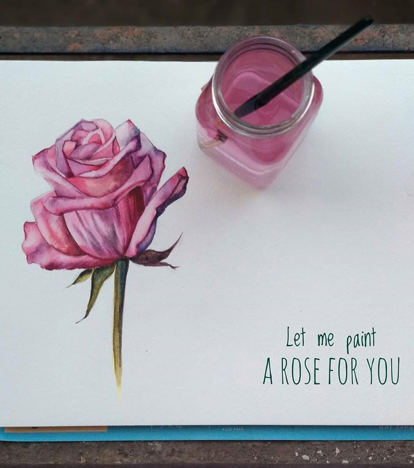 Let me paint a rose for you! - image 1 - student project
