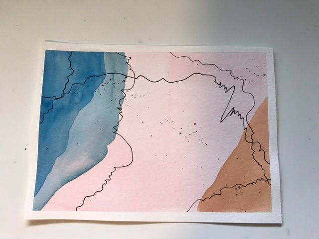Abstract lines and shapes. Delightful class. - image 2 - student project