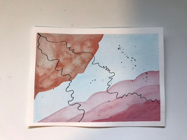 Abstract lines and shapes. Delightful class. - image 1 - student project