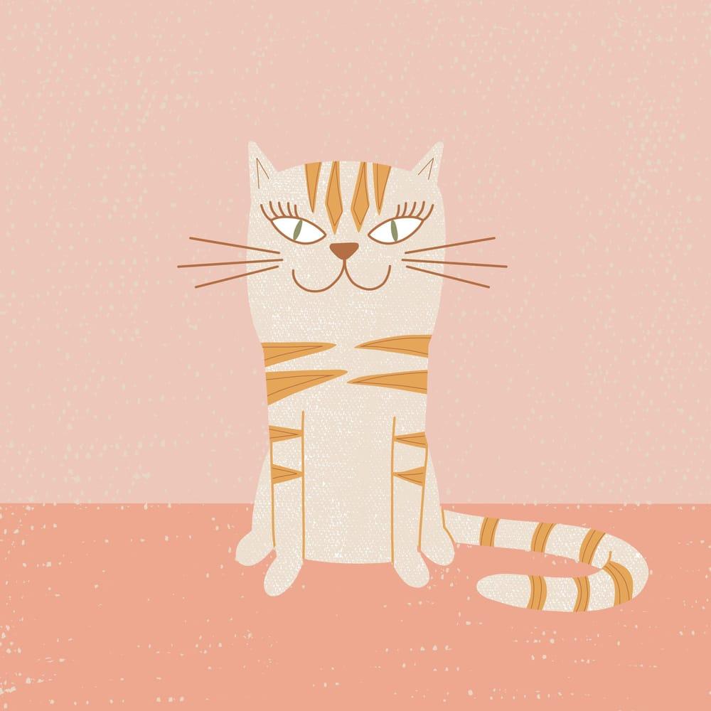Stylized Cat Illustration - image 1 - student project