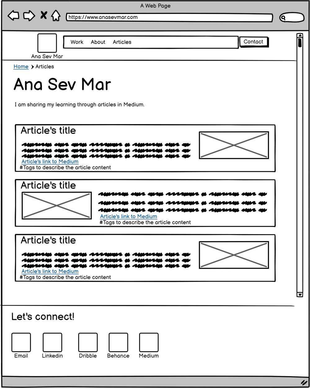 My first UX Portfolio -Wireframes (lo-fi prototype) - image 3 - student project