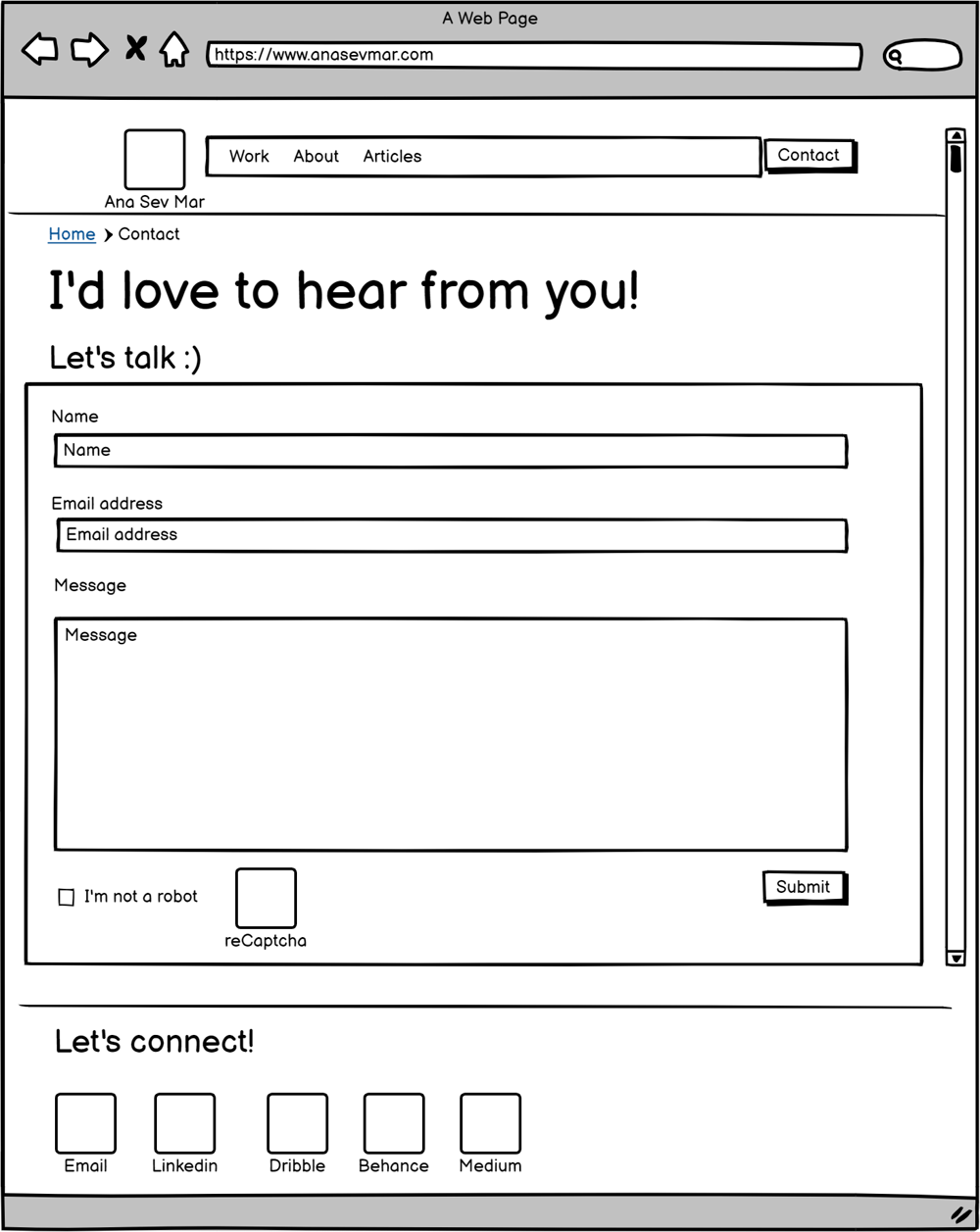 My first UX Portfolio -Wireframes (lo-fi prototype) - image 4 - student project