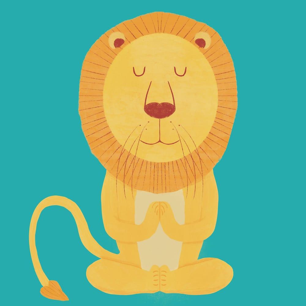 Meditating Lion - image 1 - student project
