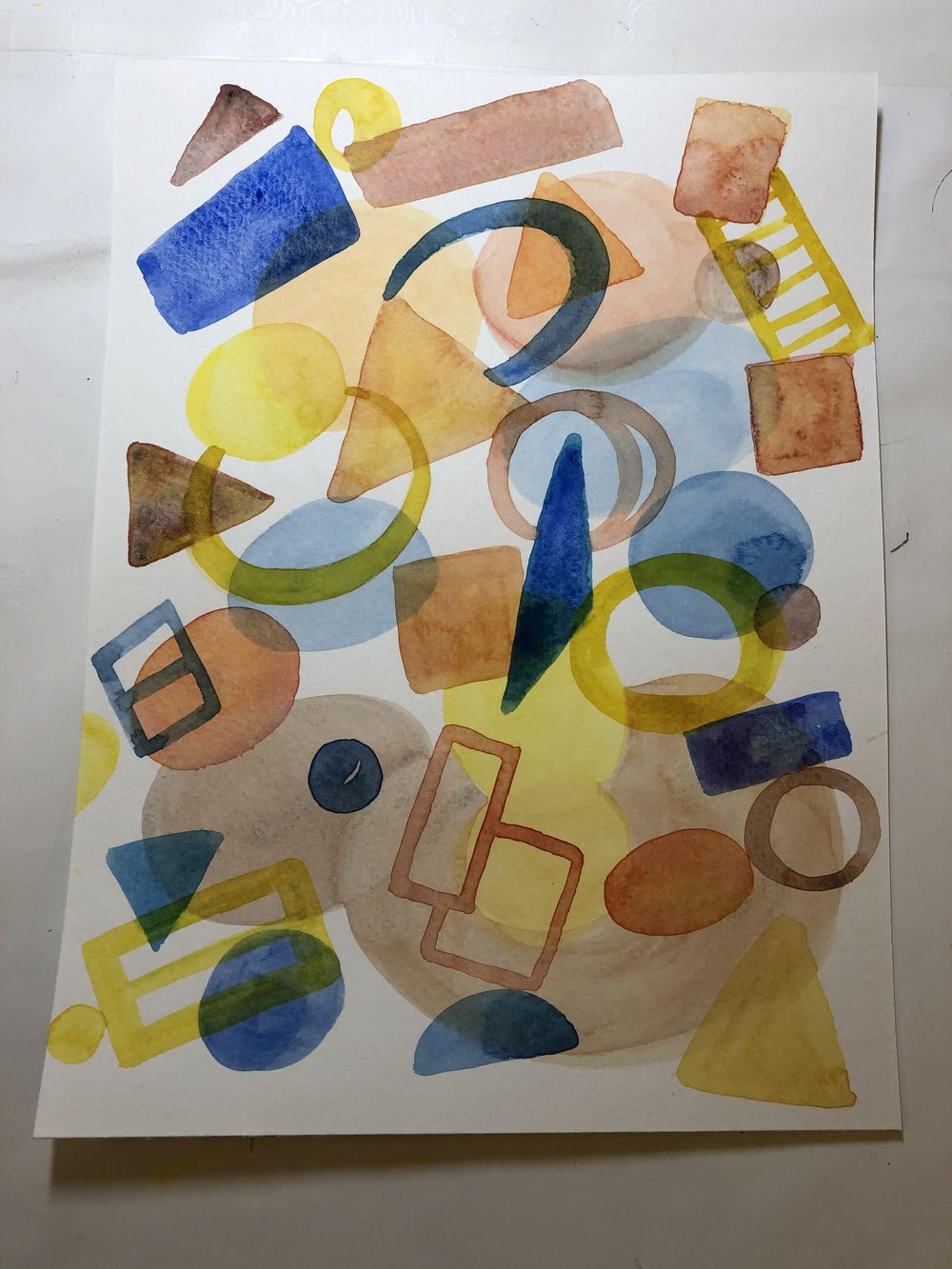 Watercolor - Shapes - image 2 - student project
