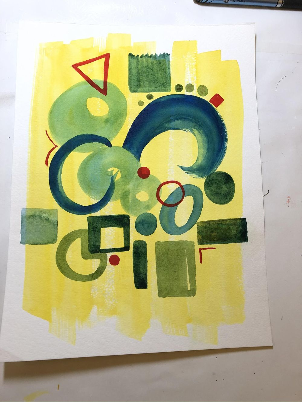 Watercolor - Shapes - image 1 - student project