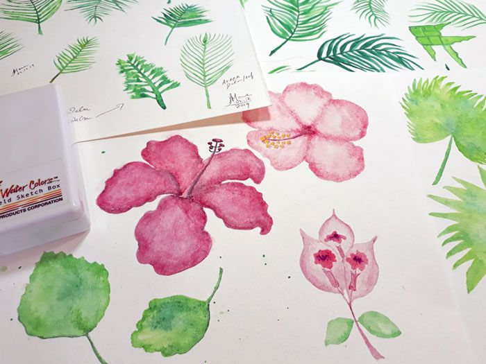 Watercolor Palms Pattern by Janet Marie - image 1 - student project