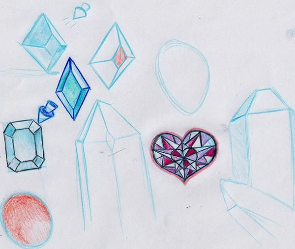 Crystal Sketching (WIP) - image 1 - student project